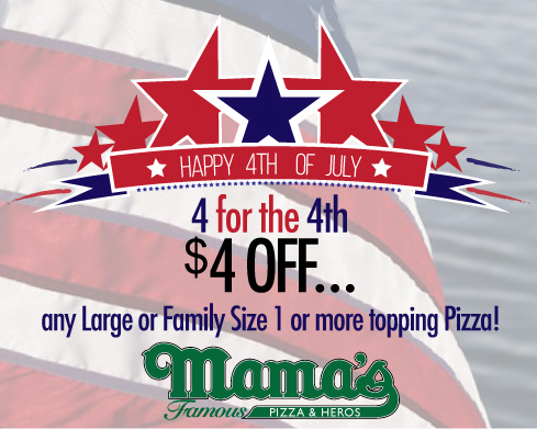 $4 Off for the 4th from Mama's Pizza