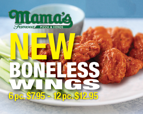New Boneless Chicken Wings!