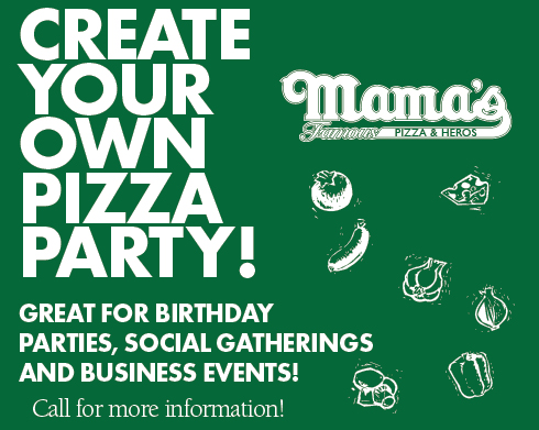 Reserve a pizza party at your place from Mama's Pizza